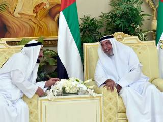 Shaikh Khalifa receives Rulers for Eid Al Fitr