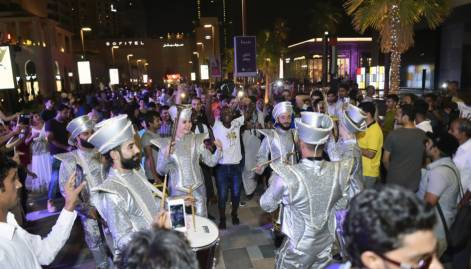 Revellers celebrate Eid at The Walk, JBR