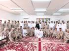 Dr Amal Al Qubaisi with Emirati soldiers in Yemen with whom she paid a visit on the first day of Eid-Al-Fitr.