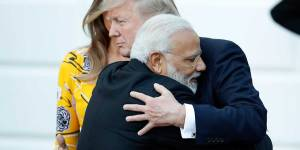 Pictured: Modi hugs world leaders