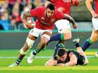 British and Irish Lions' Courtney Lawes during the match against the Hurricanes on Tuesday in Wellington. Lawes' performance was praised by coach Warren Gatland.