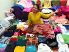 Collecting party clothes for a cause