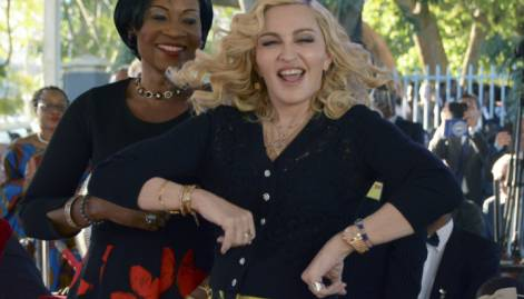 Madonna opens kids' hospital wing in Malawi
