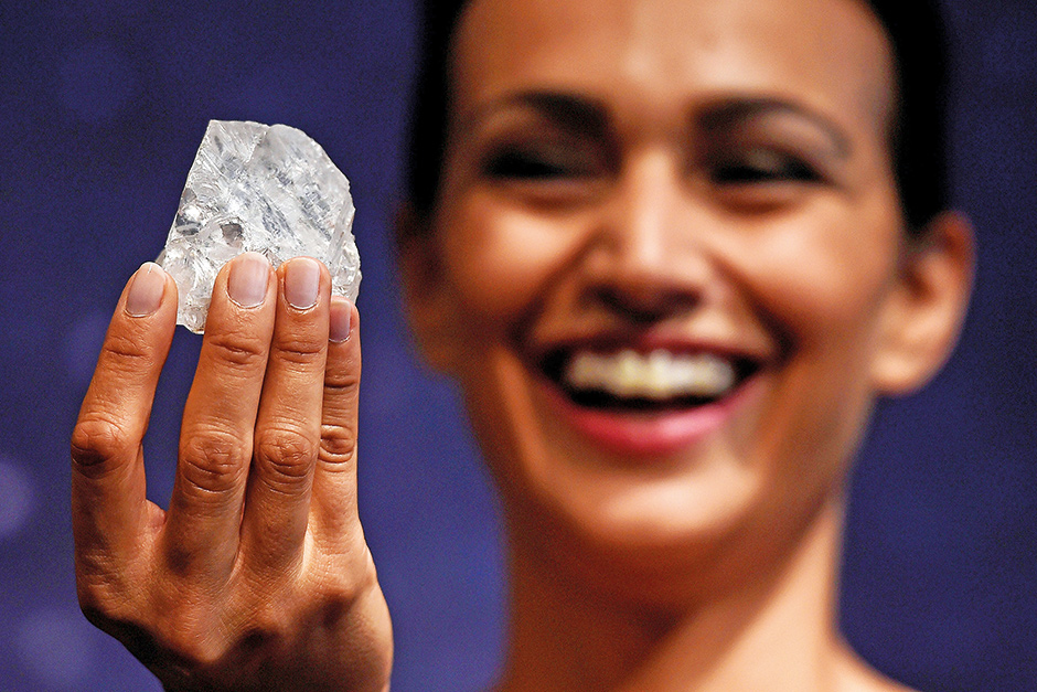 A model shows off the 1109 carat