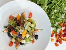 Revitalizing citrus salad with figs and cheese