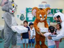 Tom and Jerry bring smiles to sick children