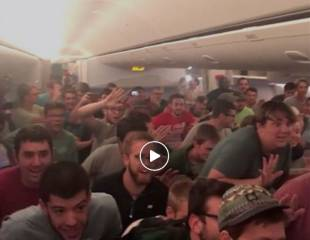 Watch: 75 men 'go nuts' on Emirates