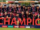Cricket - Women's Cricket World Cup Final - England vs India - London, Britain - July 23, 2017   England players pose for a photograph with their medals and the trophy   Action Images via Reuters/John Sibley