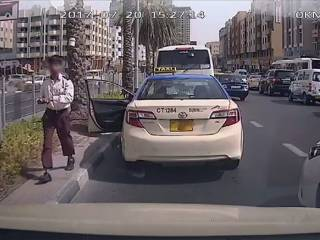 Watch: Dubai taxi driver fired after hitting car