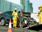 Three-car crash on Dubai's Garhoud bridge