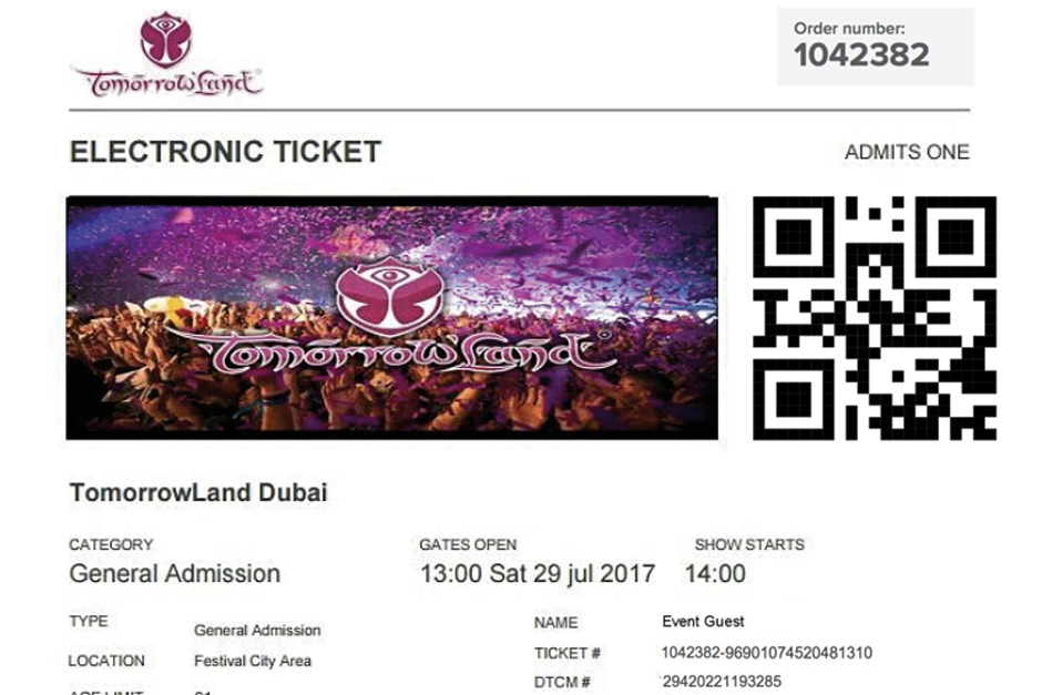 2 Fake Ticket - Tomorrowland