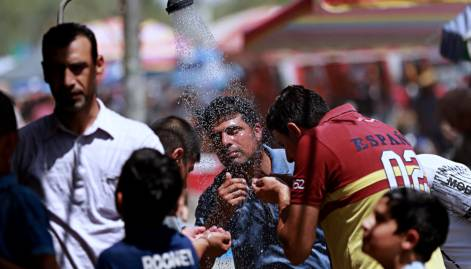 Pictures: Heatwave sweeps Middle East