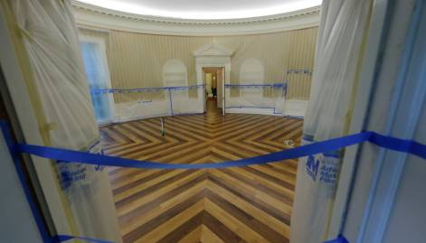 Look: Inside the White House facelift