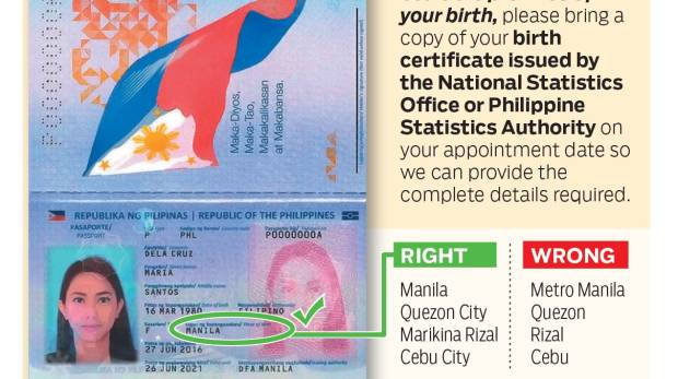 Bring birth certificate if your passport says this, Filipinos told ...