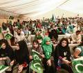 Pakistani expatriates take part in the Independence Day celebrations at their Consulate in Dubai