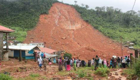 Pictures: Sierra Leone mudslides and flooding