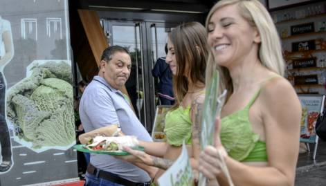 'Lettuce ladies' promote vegan eating