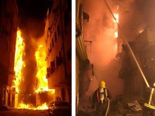 6 buildings in Jeddah go up in flames