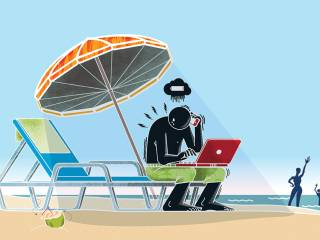 Do you work while on vacation?