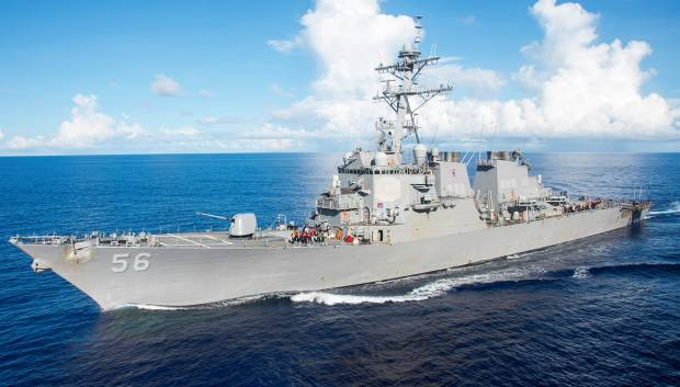 US destroyer hits oil tanker off Singapore