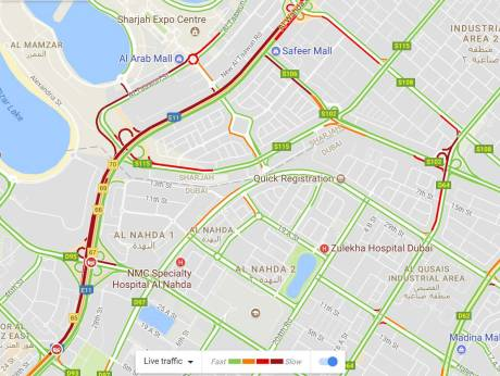 Traffic in Sharjah