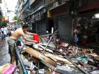 Clean up begins after typhoon Hato destruction