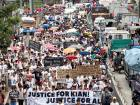 Philippine teenager's burial turns into protest