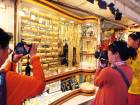 Tourists at the Gold Souk in Deira. Bullion has jumped 12 per cent this year as the dollar weakened.