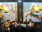 Students of the School of Magic and Witchcraft have tea in a castle in the mountain city of Campos do Jordao, some 180 km from Sao Paulo, Brazil on August 20, 2017.