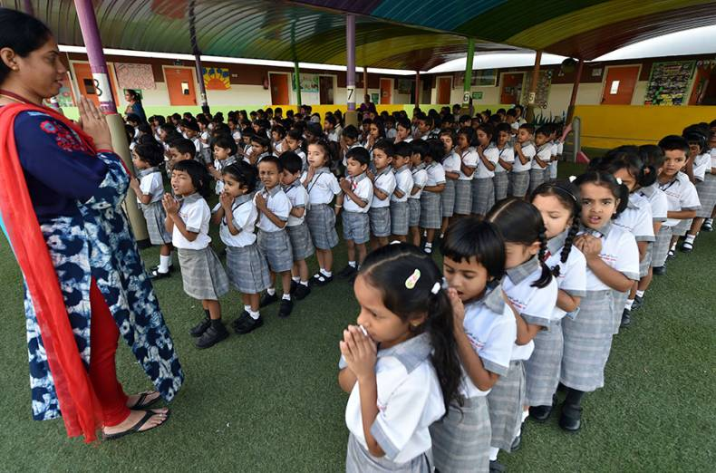 kg-students-of-abu-dhabi-indian-school-muroor-attend-the-prayer-session-on-the-reopening-day