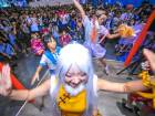 Dancers performing during Bilibili Macro Link 2017, an annual convention of animation, comic and game (ACG), in Shanghai.
