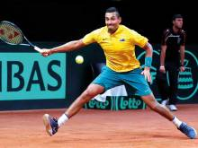 Fired-up Kyrgios helps Australia draw level