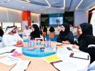 Shaikh Mohammad attended part of a training programme for the third batch of Innovation Diploma students during a visit to the Mohammad Bin Rashid Centre for Government Innovation.