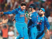 Kuldeep Yadav thanks Dhoni for hat-trick feat