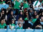 Women attend football game in Saudi first