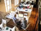 A start-up office in the US. Start-ups play a critical role in making the economy as a whole more productive, as they invent new products and approaches, forcing existing businesses to compete or fall by the wayside.