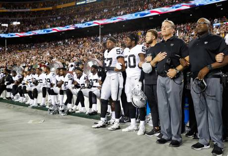 Protests hog limelight in NFL across the US