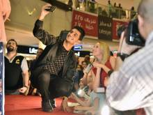 Mohammad Assaf hangs out with his UAE fans