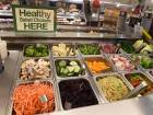 This file photo taken on November 29, 2016 shows salad bar selections at a Ralph's Supermarket in Irvine, California.