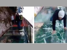 Real story behind scary glass floor 'cracks'
