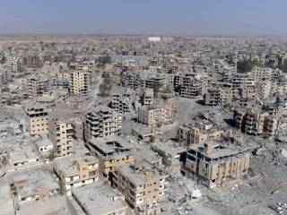 Drone video shows devastation in Raqqa