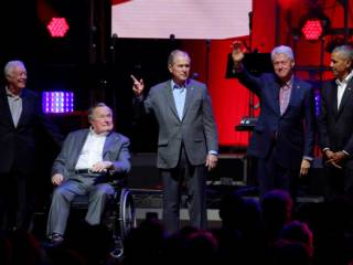 Five ex-presidents raise relief money