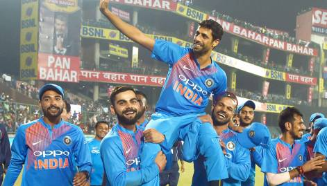 Pictures: India thump Kiwis in Nehra's swansong