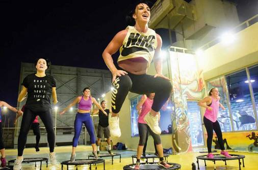 Bouncing your way to fitness — on a trampoline