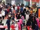 Visitors crowd Expo Centre Sharjah on Saturday to take advantage of the huge discounts offered on books on the final day of the Sharjah International Book Fair.