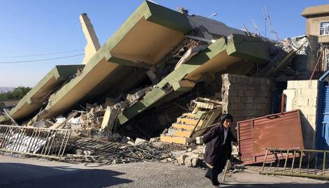 Pictures: Strong quake rocks Iran-Iraq border