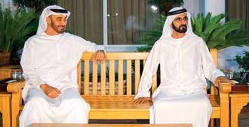 Dubai Ruler and Abu Dhabi Crown Prince