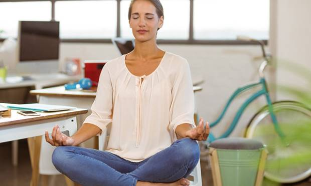 Simple yoga to relieve office stress