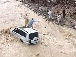 5 rescued from flashfloods, 1 missing