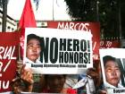 Marcos not a hero, say rights groups